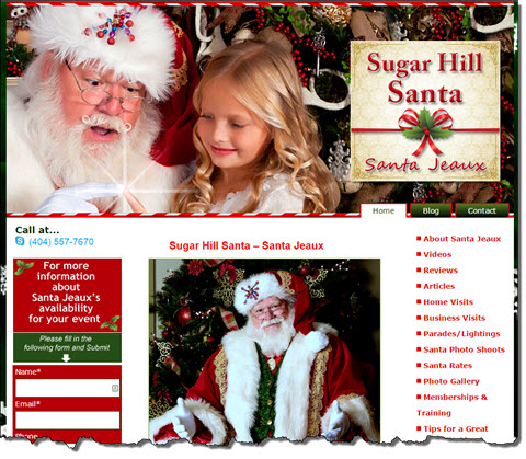 Sugar Hill Santa website 06-07-15