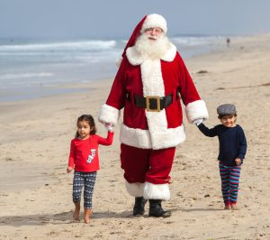 Santa Claus on Beach